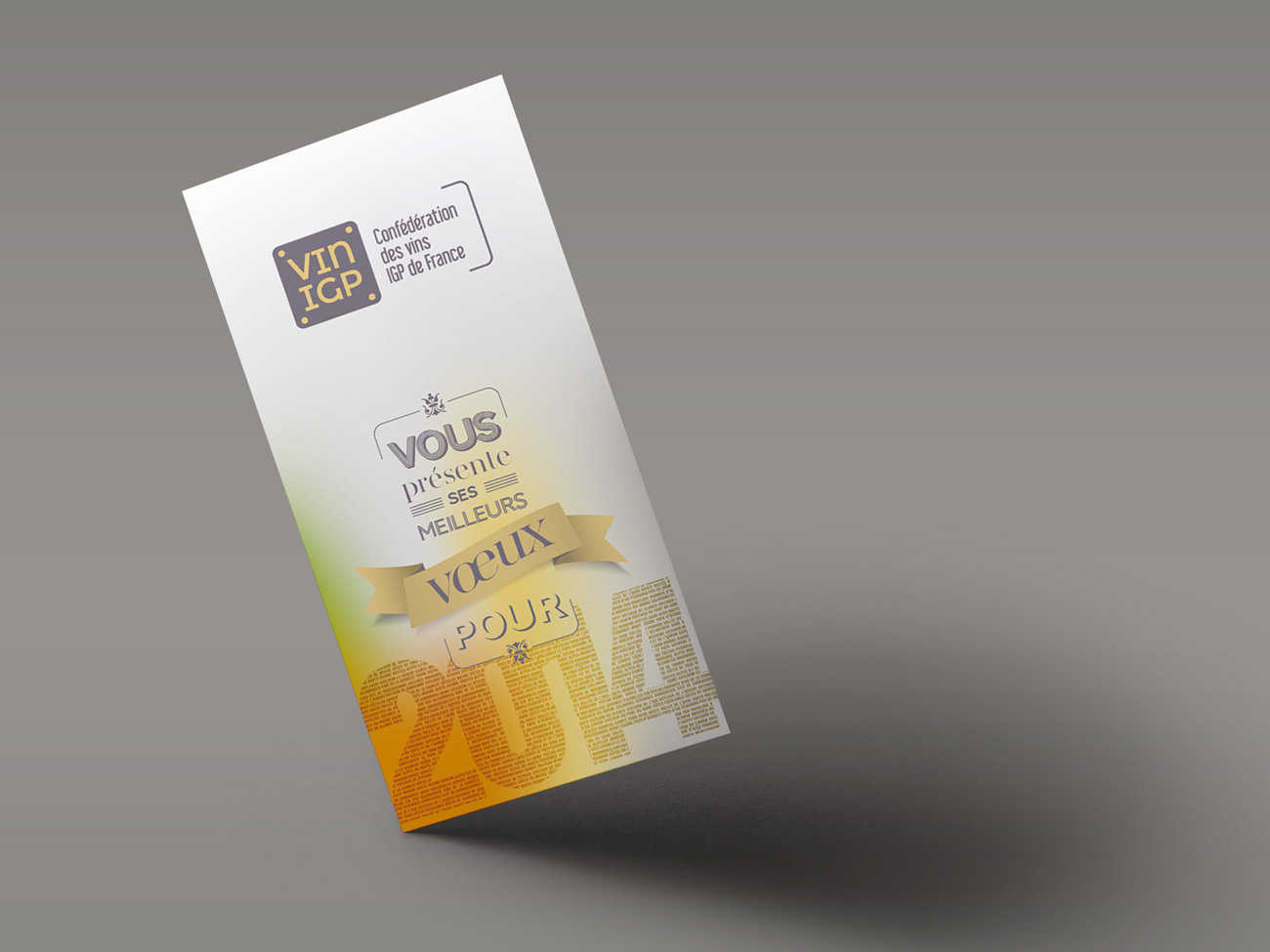 Carte de vœux Vin IGP