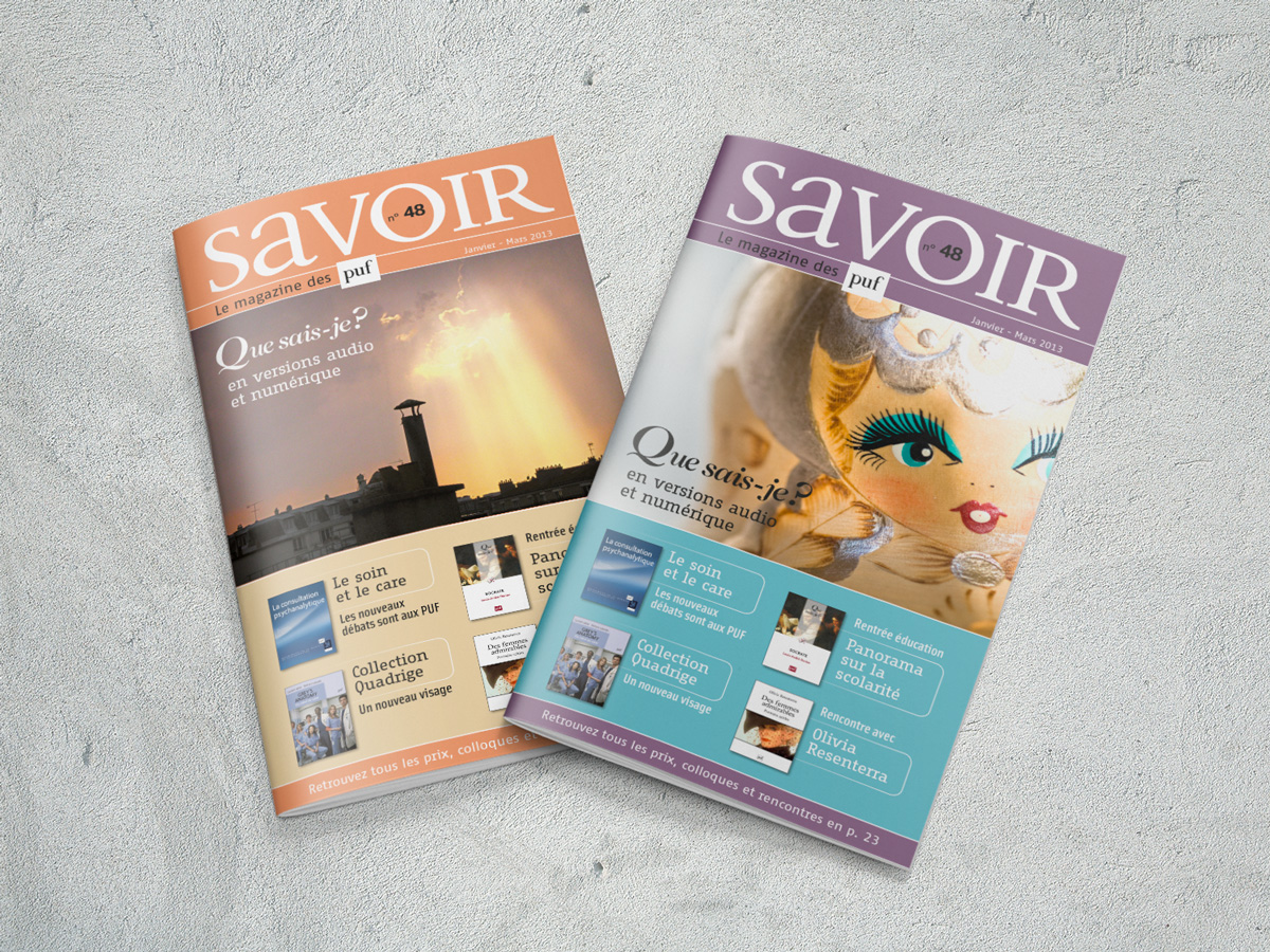 Couvertures magazine Savoir